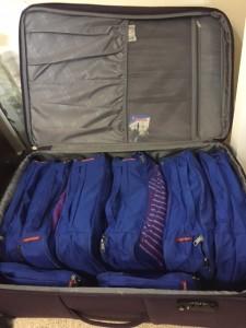 Petsitter's organised bags