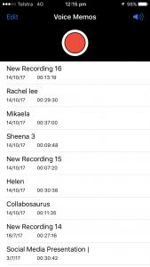 VoiceMemo Screenshot