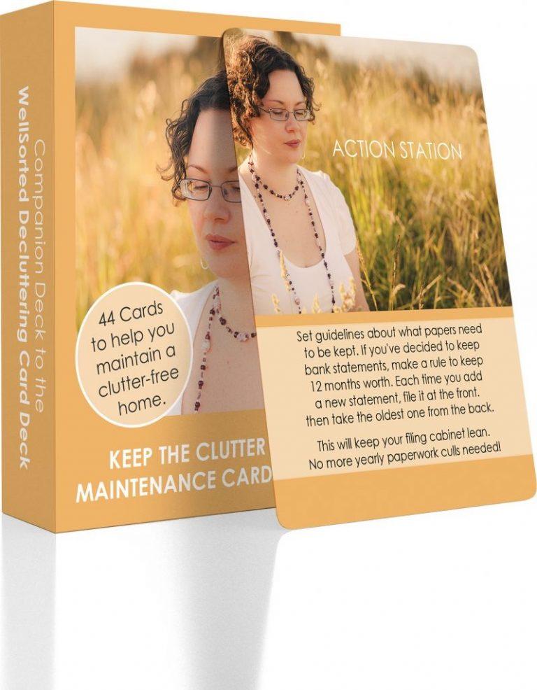 WellSorted Keep The Clutter Away Decluttering Self-Help Book Cards