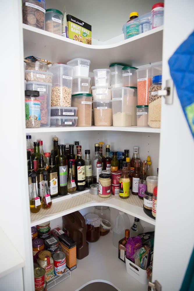 an organised pantry