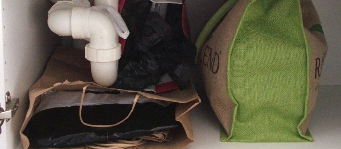 plastic bags, shopping bags, kitchens, organising, hoarding bags, bag addiction, WellSorted, decluttering